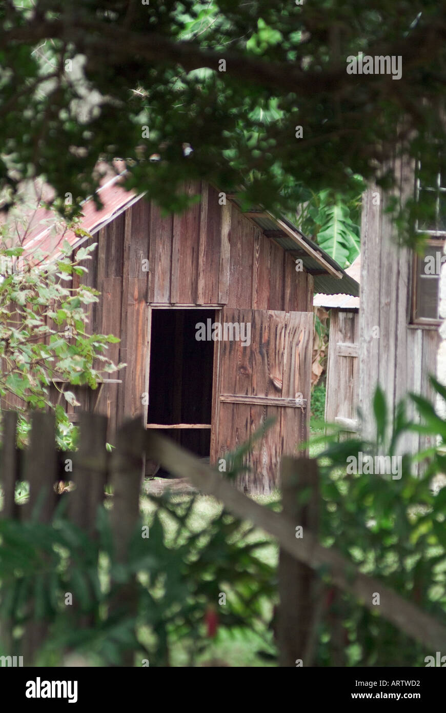 Dudley Farm Historic State Park Newberry Florida kitchen building country homestead farmstead - Stock Image