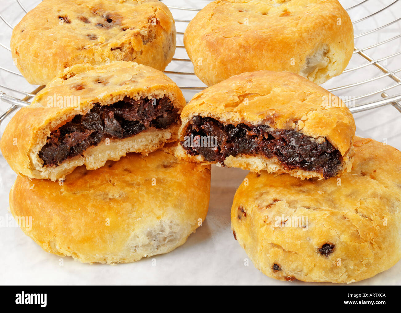 Lancashire Eccles Cakes Stock Photo Alamy