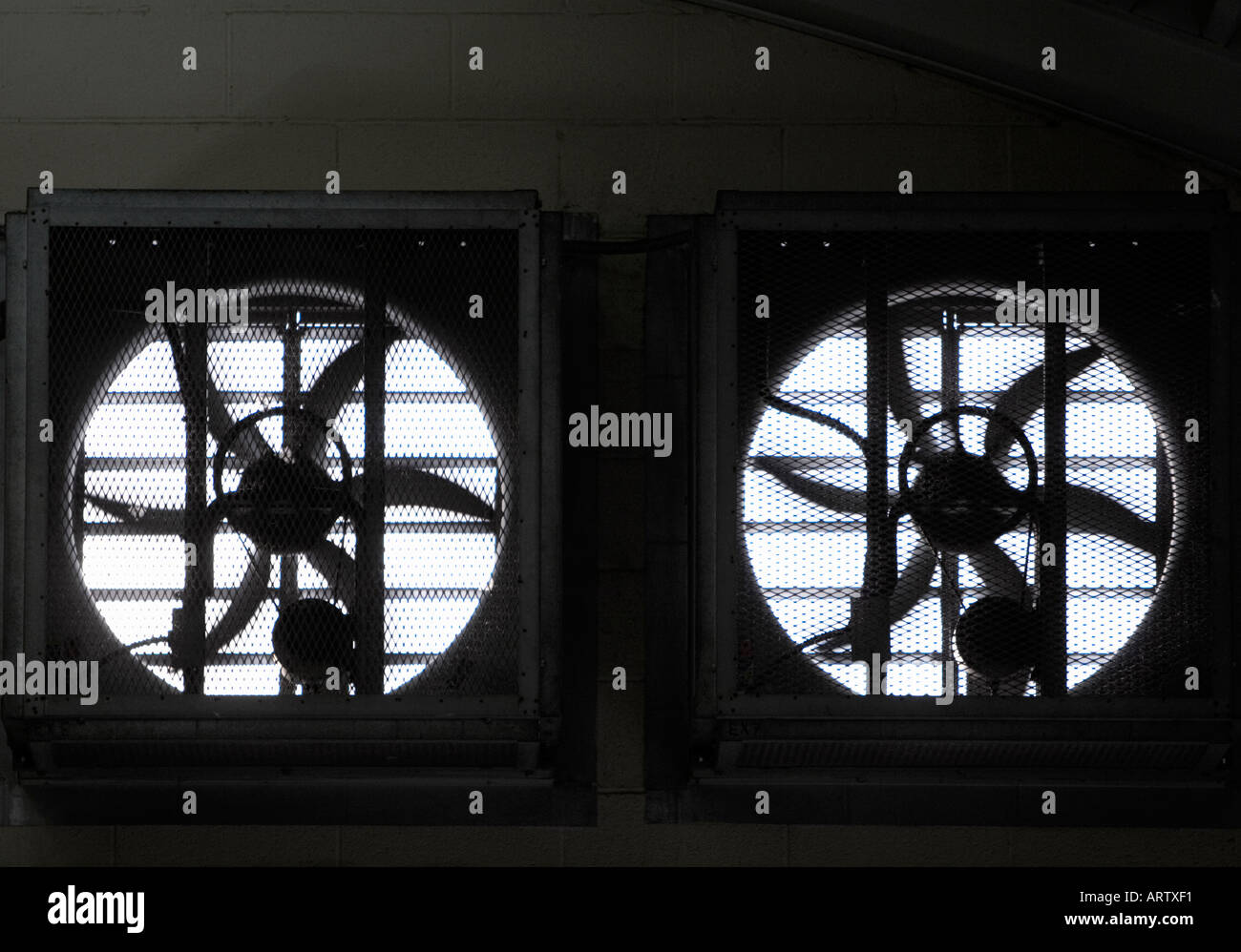 Large exhaust ventilation fans - Stock Image