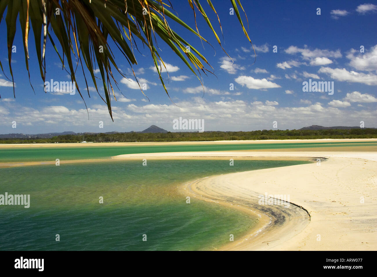 Noosa Inlet Noosa Heads Sunshine Coast Queensland Australia - Stock Image