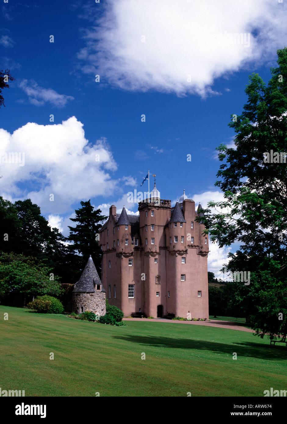 UK Scotland Grampian Aberdeen- shire Craigievar Castle - Stock Image