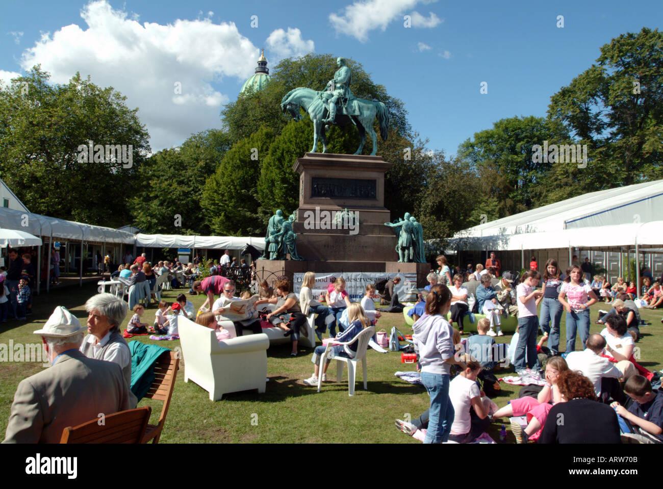 Book Festival Edinburgh Scotland - Stock Image
