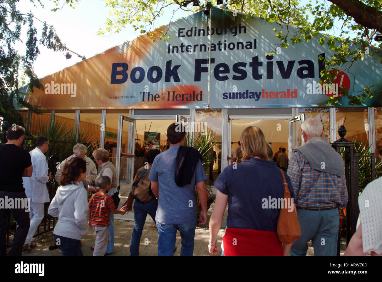 Book Festival Edinburgh - Stock Image
