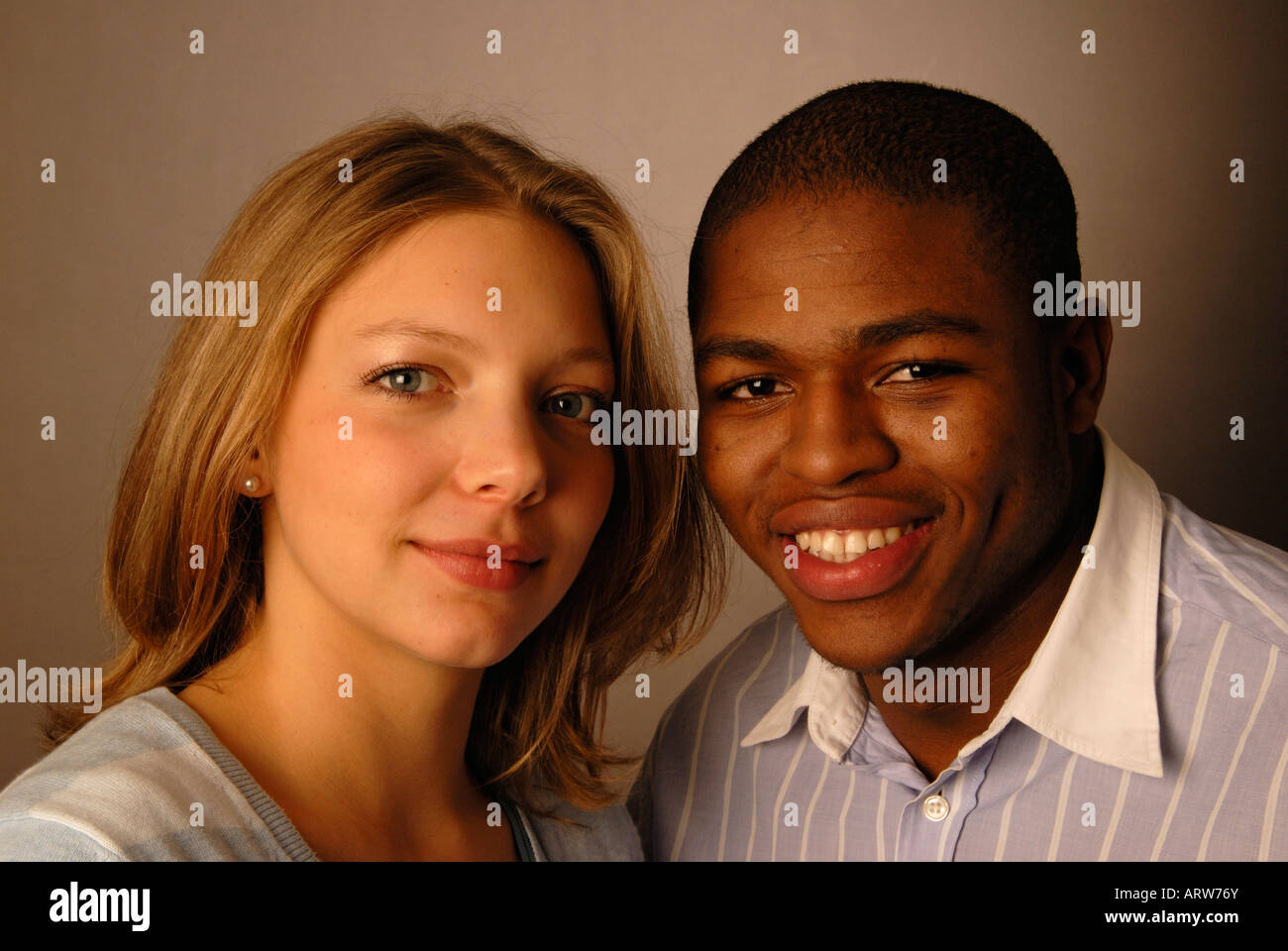 Young mixed race couple. - Stock Image