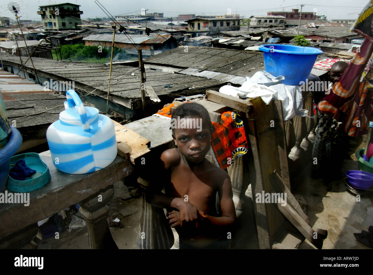 Nigeria: the wealthy moved to the new capital Abuja: Lagos has become poor - Stock Image