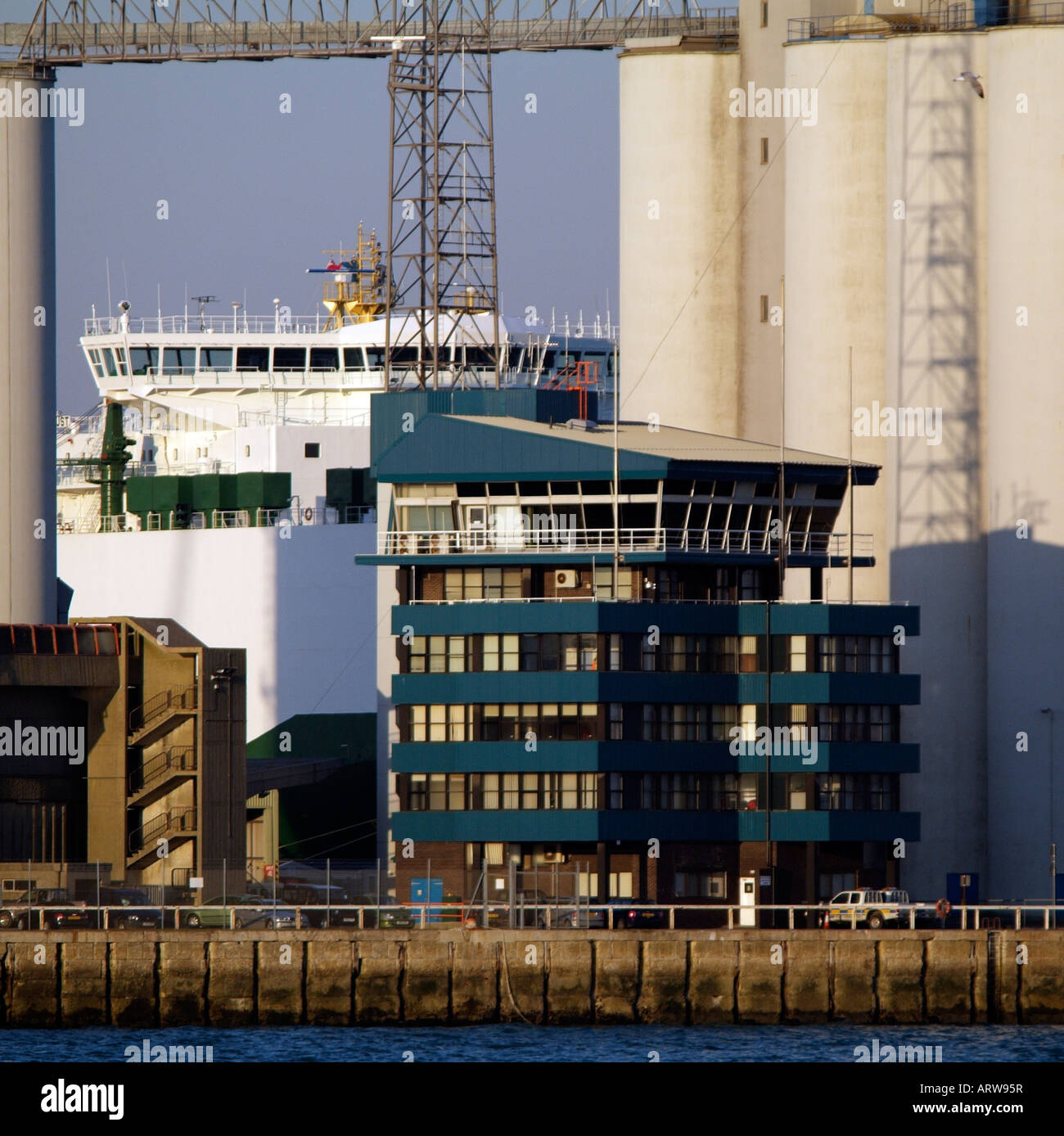 ABP Port of Southampton Control Offices England UK Associated British Ports - Stock Image
