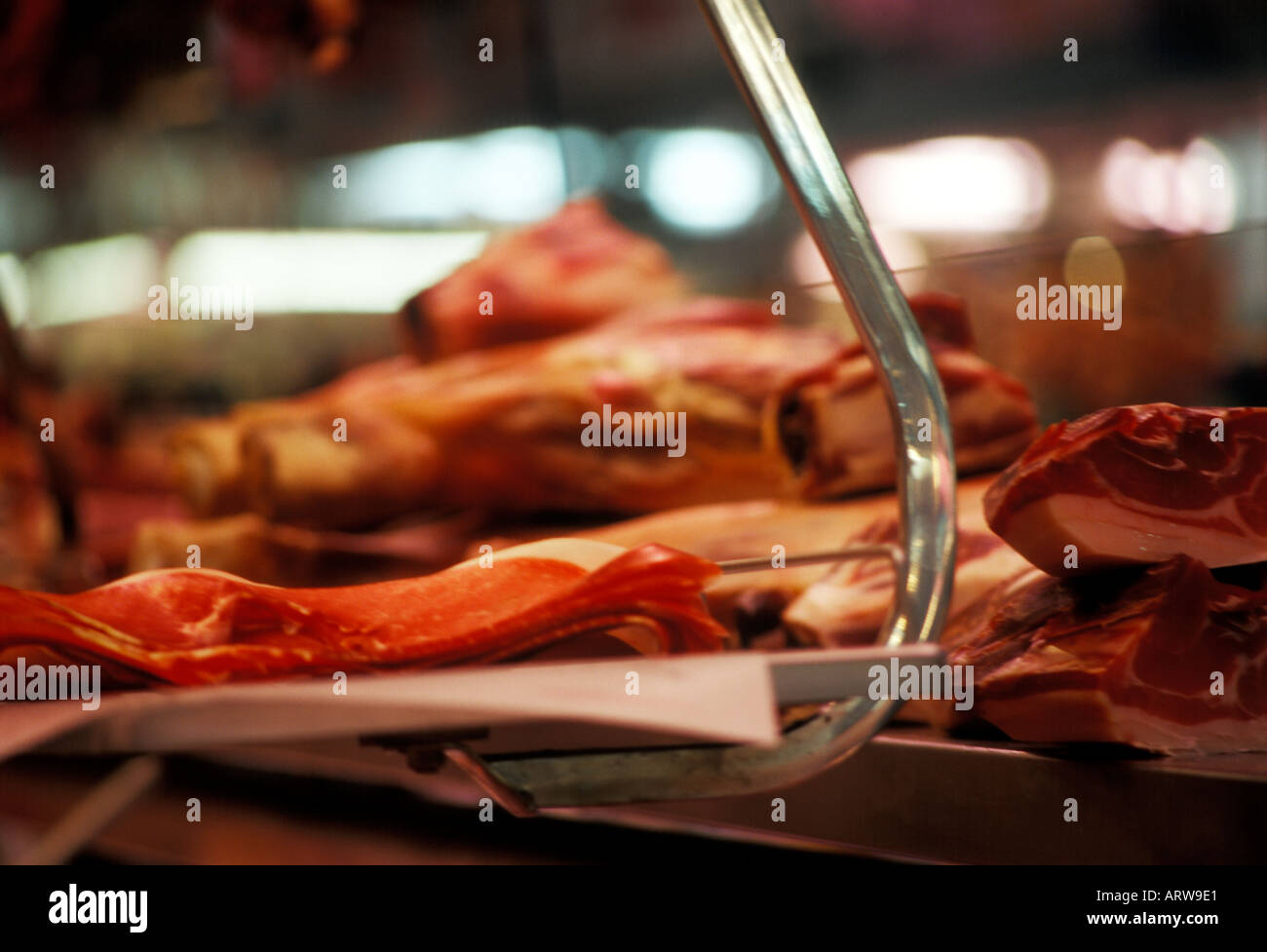 cured meat - Stock Image