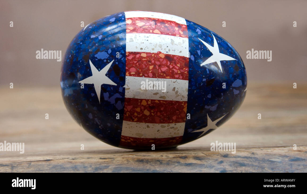Stars and stripes Egg - Stock Image
