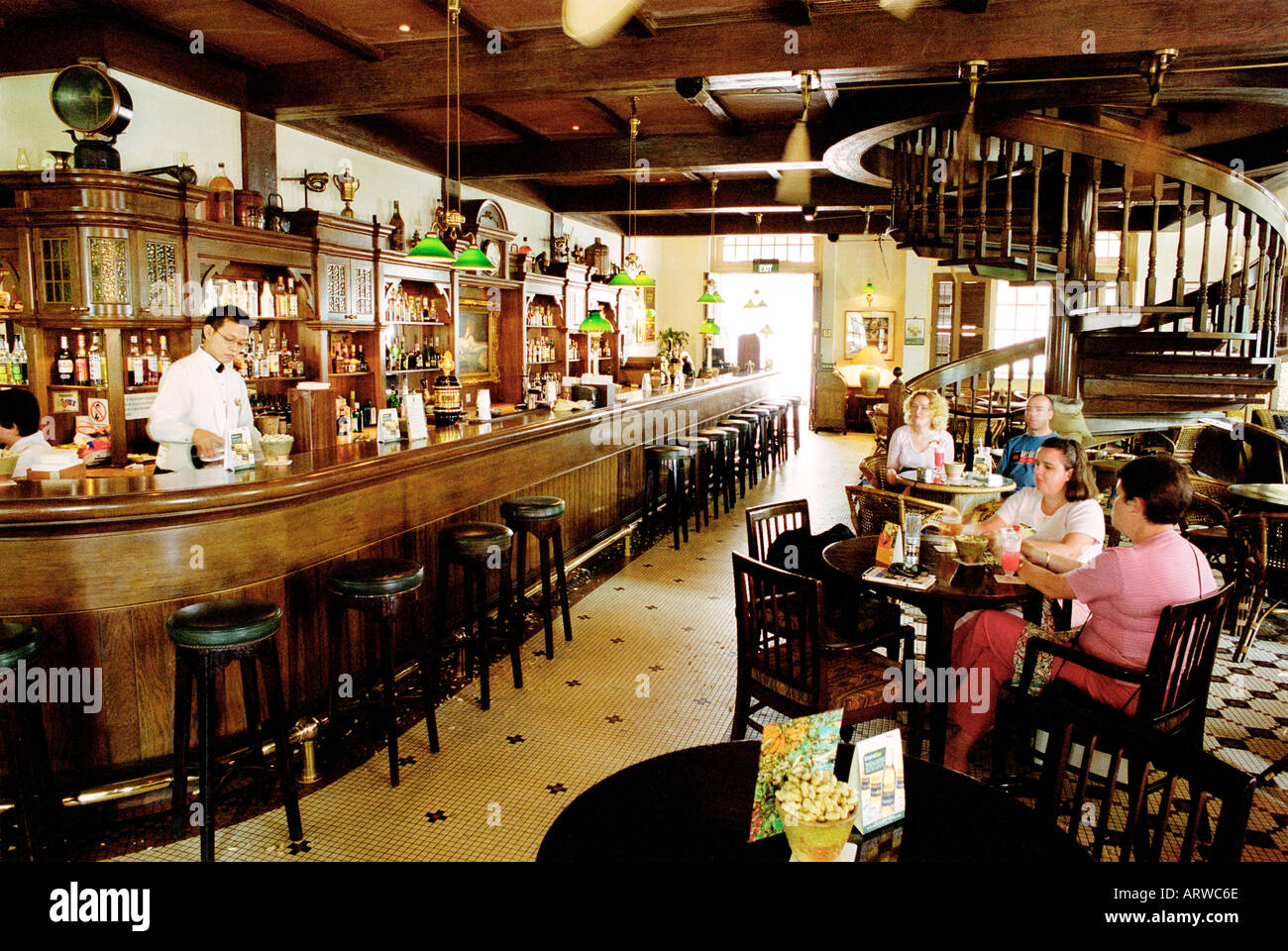 The Long Bar In The Famous Raffles Hotel In Singapore Where The Stock Photo Alamy