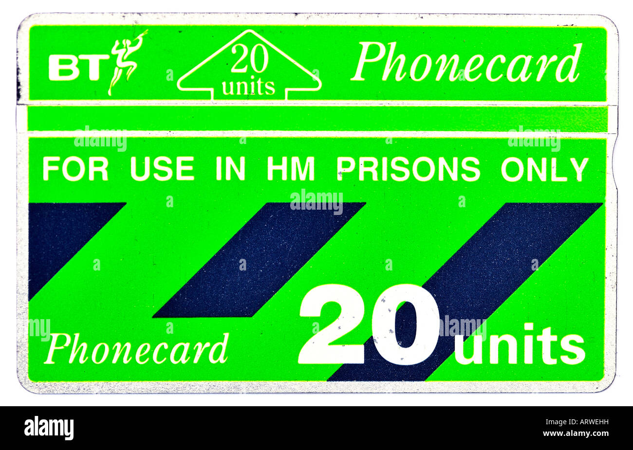 1990s British Telecom BT Phonecard FOR EDITORIAL USE ONLY - Stock Image