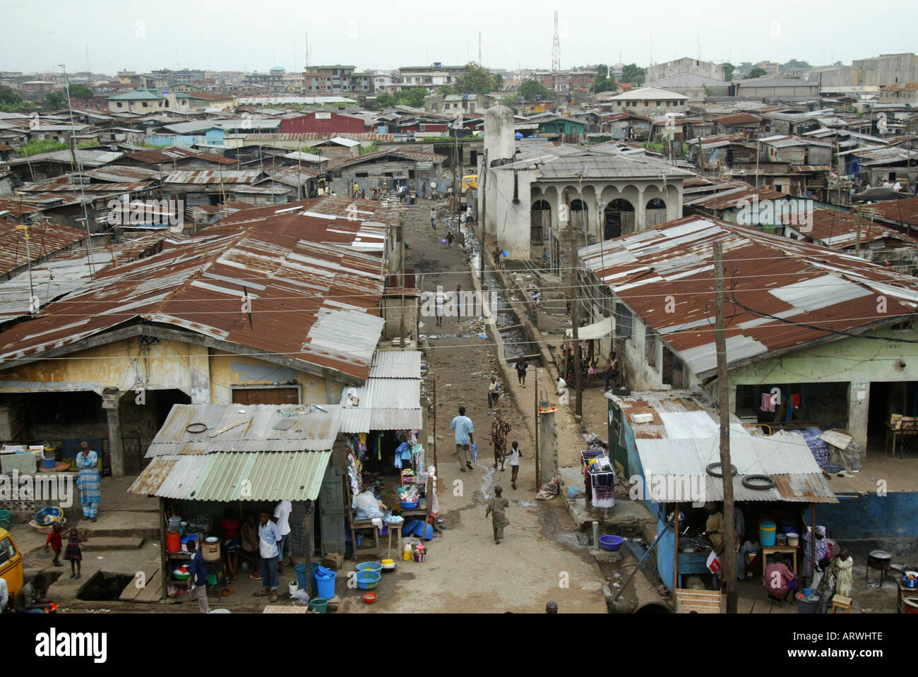 Nigeria: the wealthy have moved to the new capital Abuja: Lagos has become poor - Stock Image