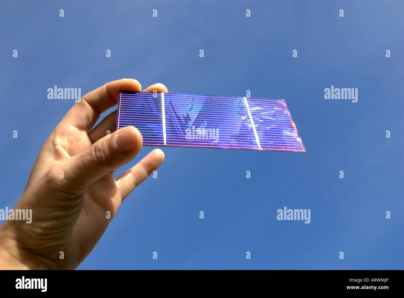 Single solar cell - Stock Image