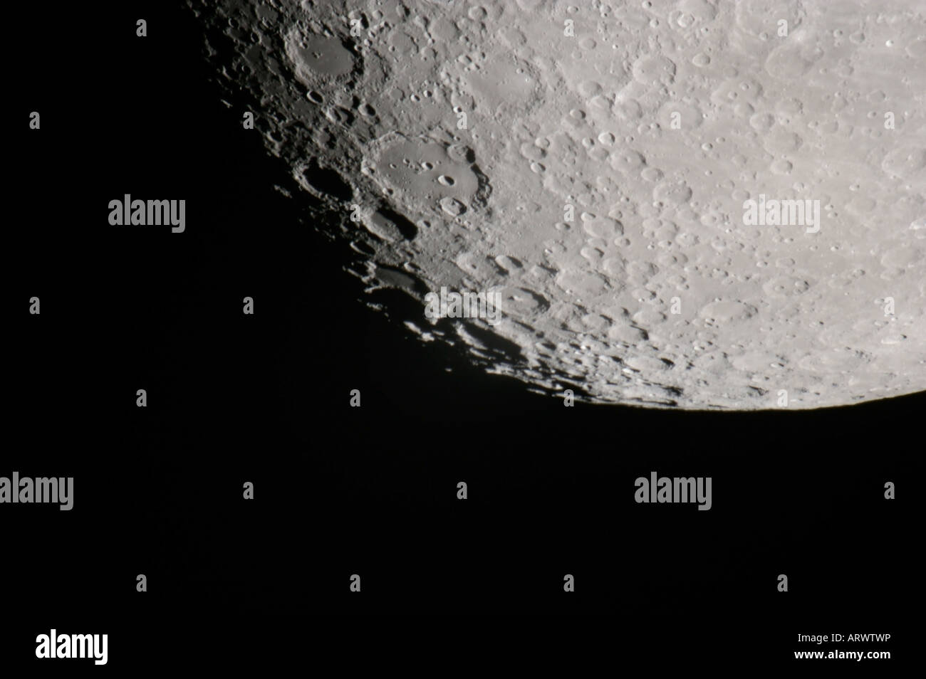 Moon surface craters - Stock Image