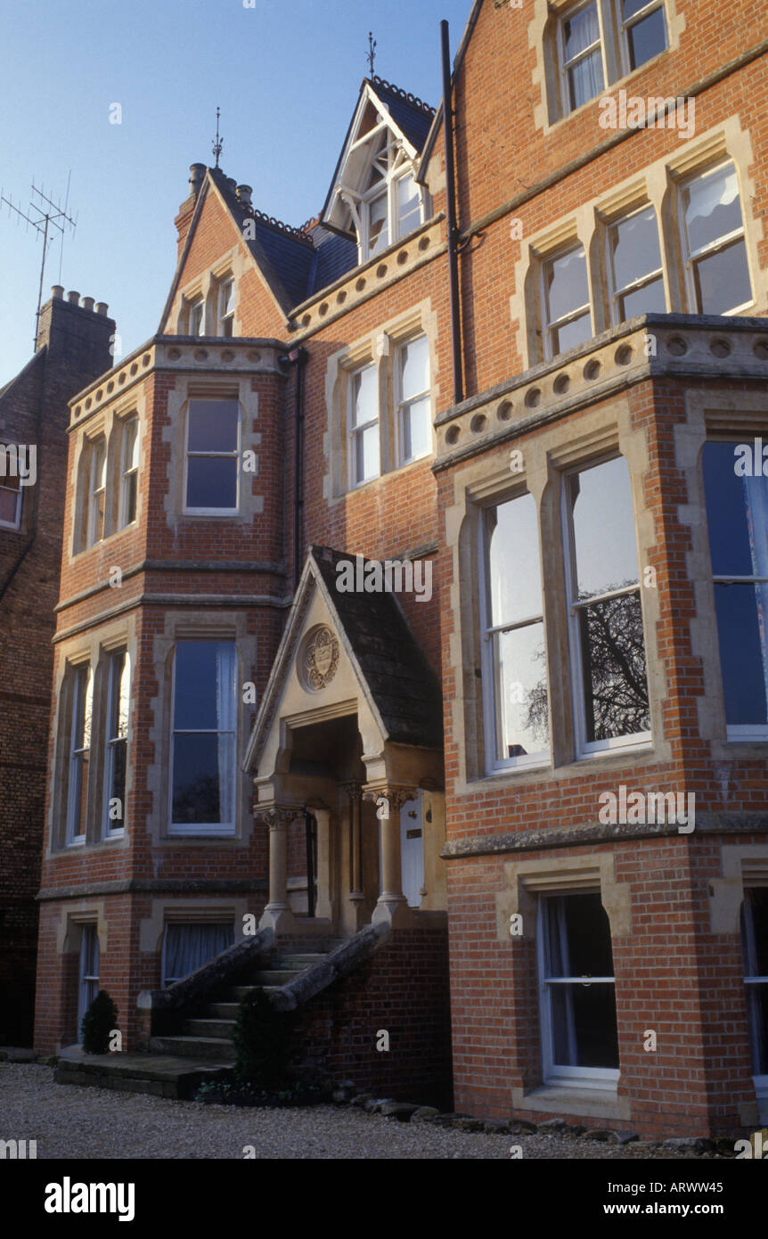 Victorian Gothic Revival House C 1860s North Oxford England Brick With Stone Facings