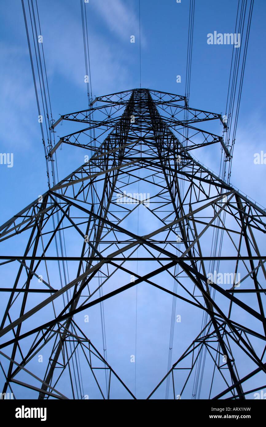 Electricity Distribution Pylon - Stock Image