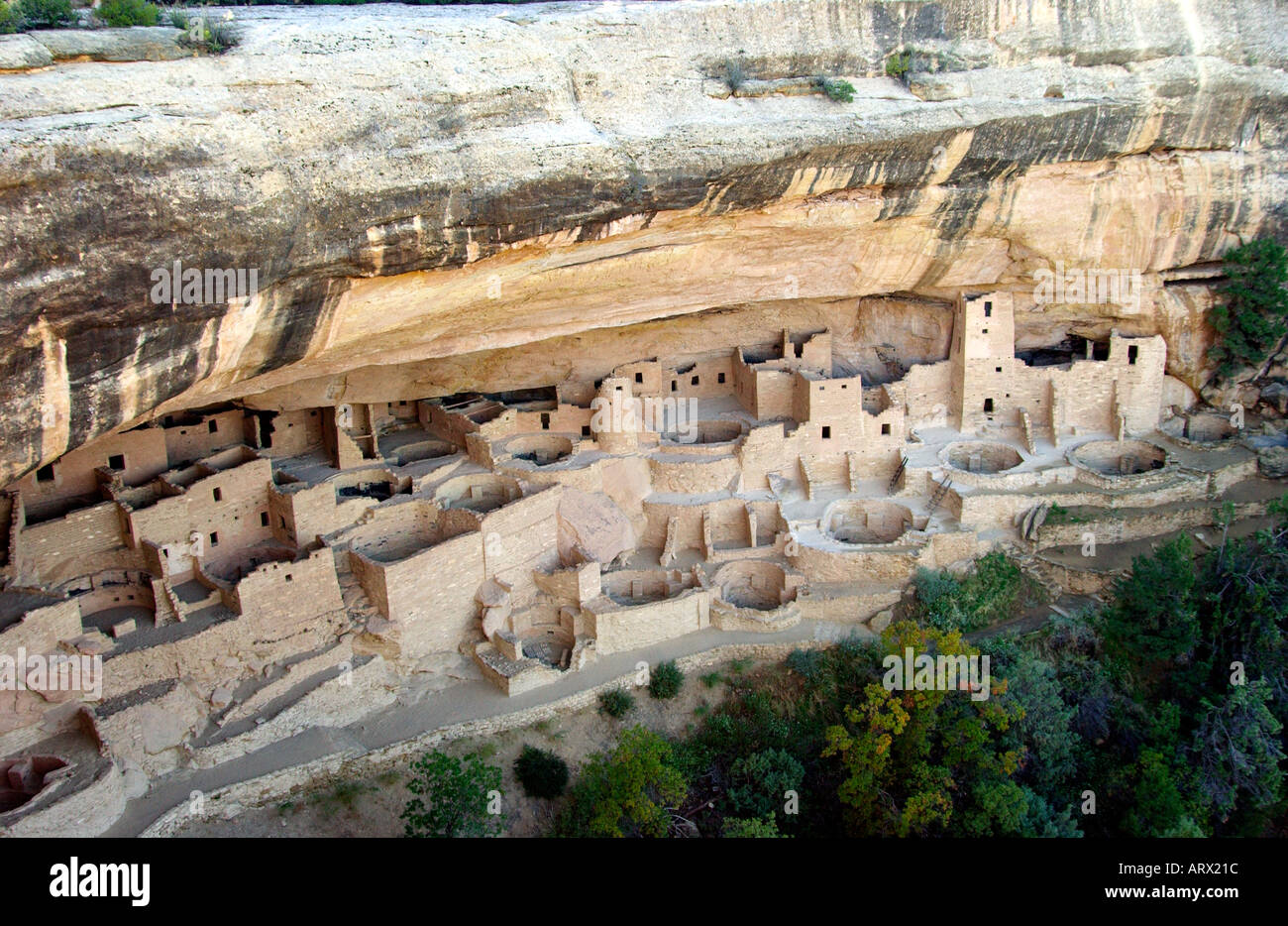 Cliff Palace in Mesa Verde National Park Colorado USA - Stock Image