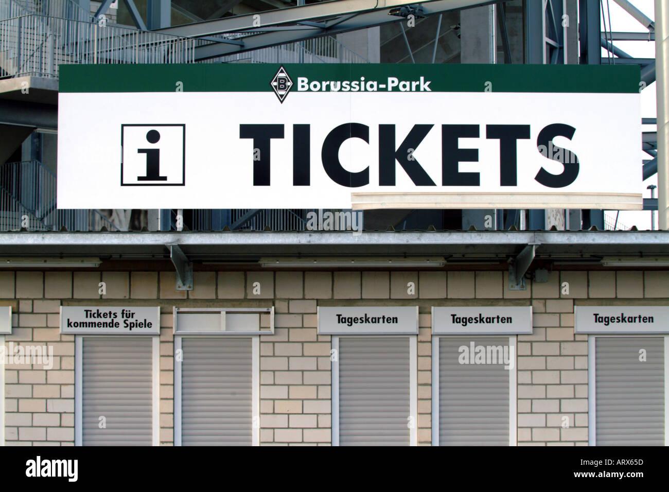 tickets Borussia Mönchengladbach - Stock Image