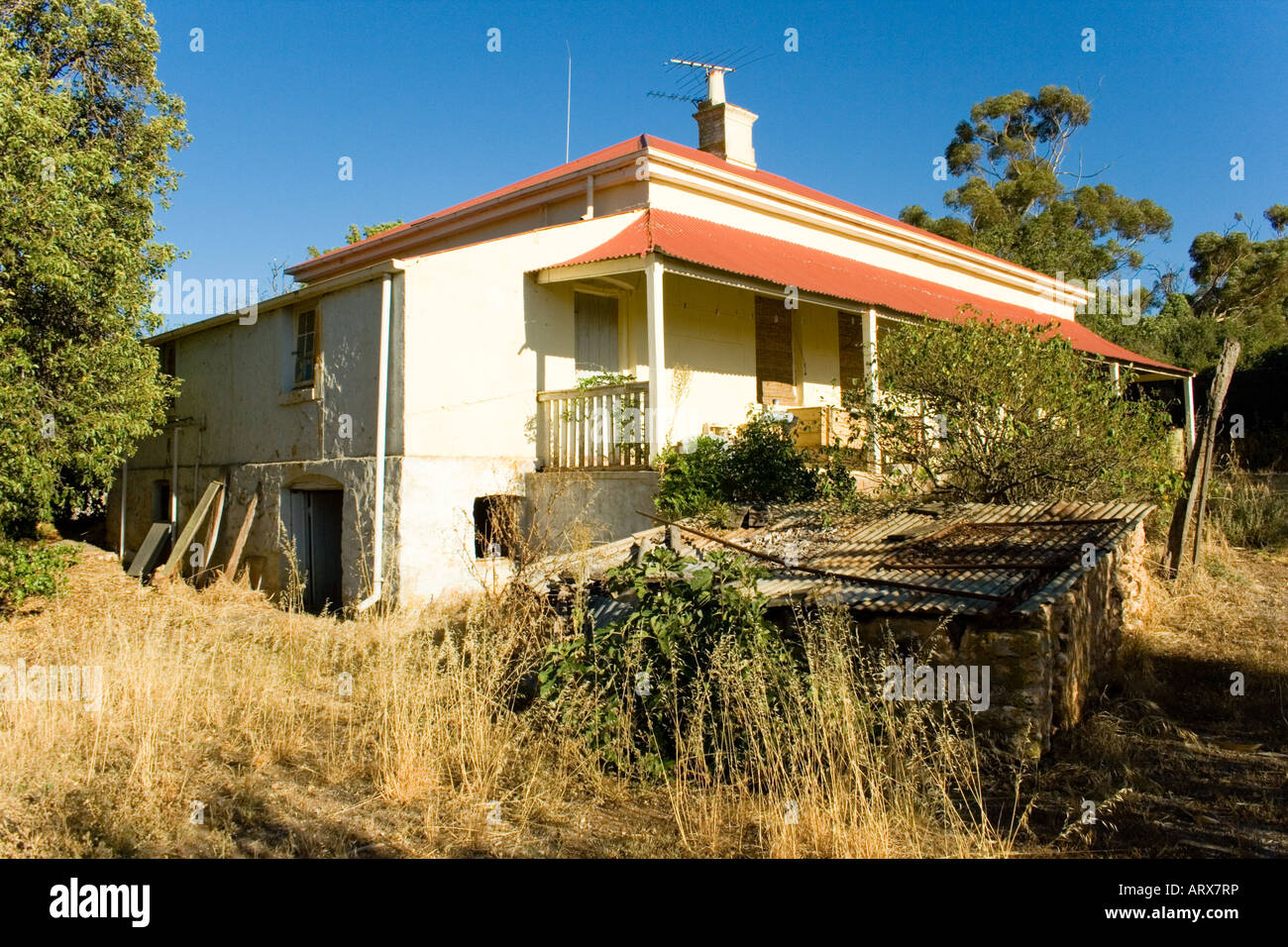 A 150 year old homestead in Australia - Stock Image