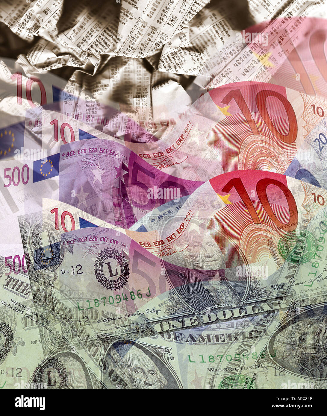 DIGITAL CONCEPT: International Currency - Stock Image