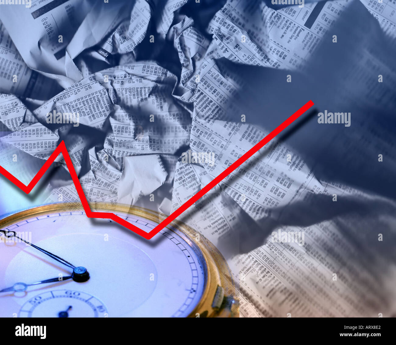 FINANCIAL CONCEPT: Stock market rising - Stock Image