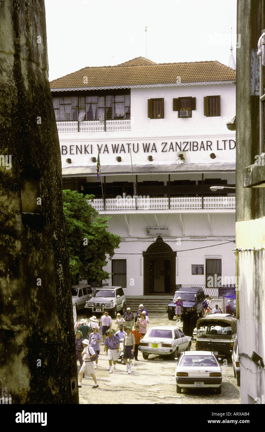 The Peoples Bank of Zanzibar Ltd Zanzibar Tanzania East Africa - Stock Image