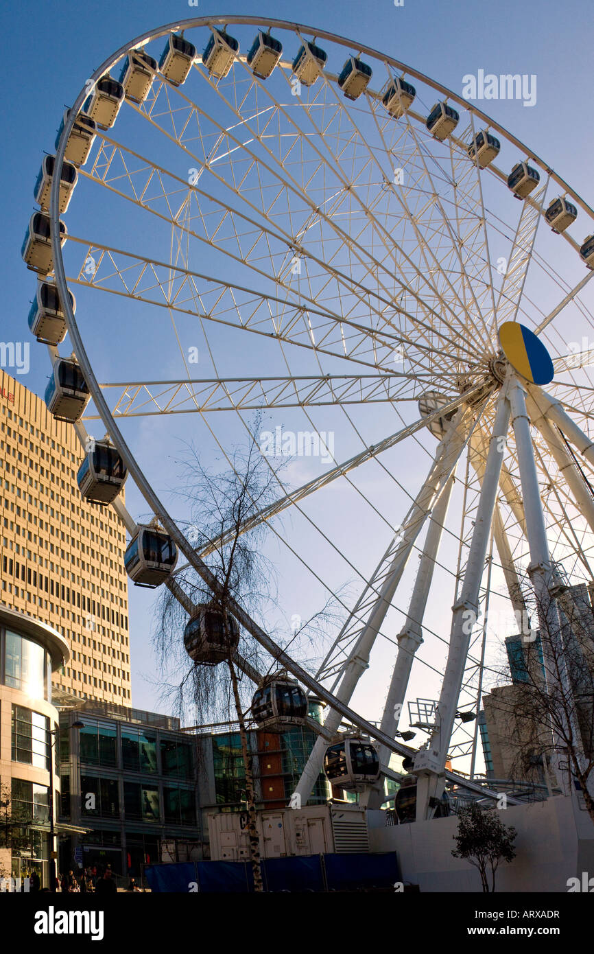The Manchester Wheel in Central Manchester in the United Kingdom - Stock Image