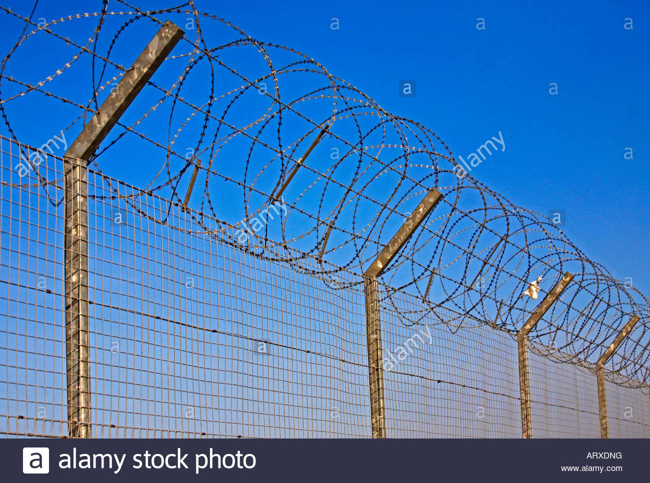 Barbed Tape Fence Stock Photos & Barbed Tape Fence Stock Images - Alamy