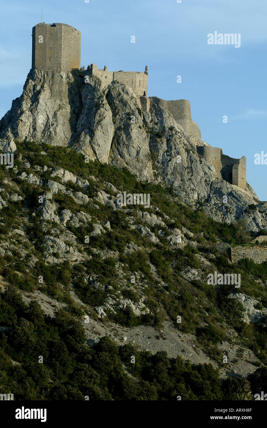 ROUTE OF THE CATHAR CASTLES CASTLE OF QUERIBUS PYRENEES ORIENTALS ...