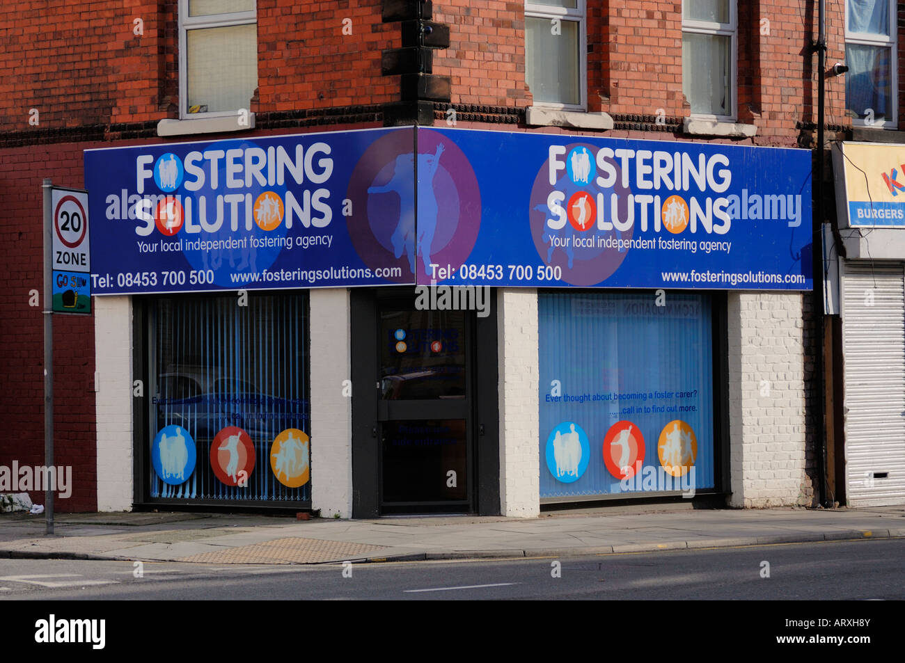 Fostering Solutions shop on Smithdown Road in Liverpool - Stock Image