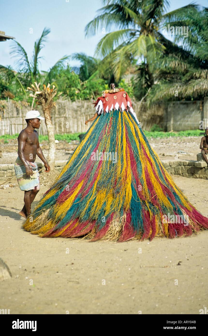 Voodoo Phantom Dance, Benin - Stock Image