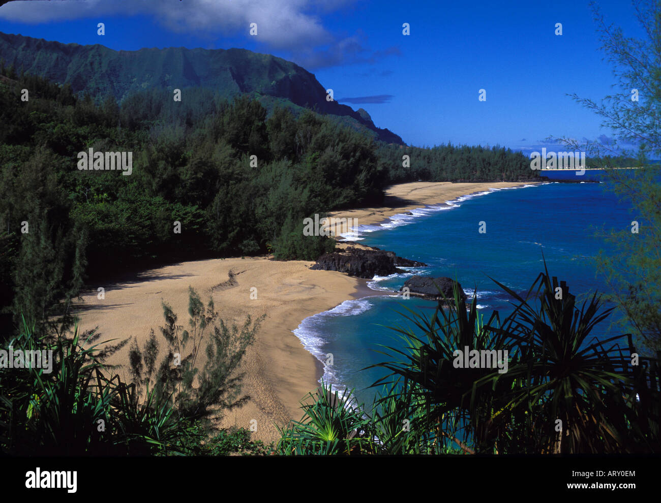 Lumahai Beach Where Movie South Pacific Was Filmed Kauai Stock Photo Alamy