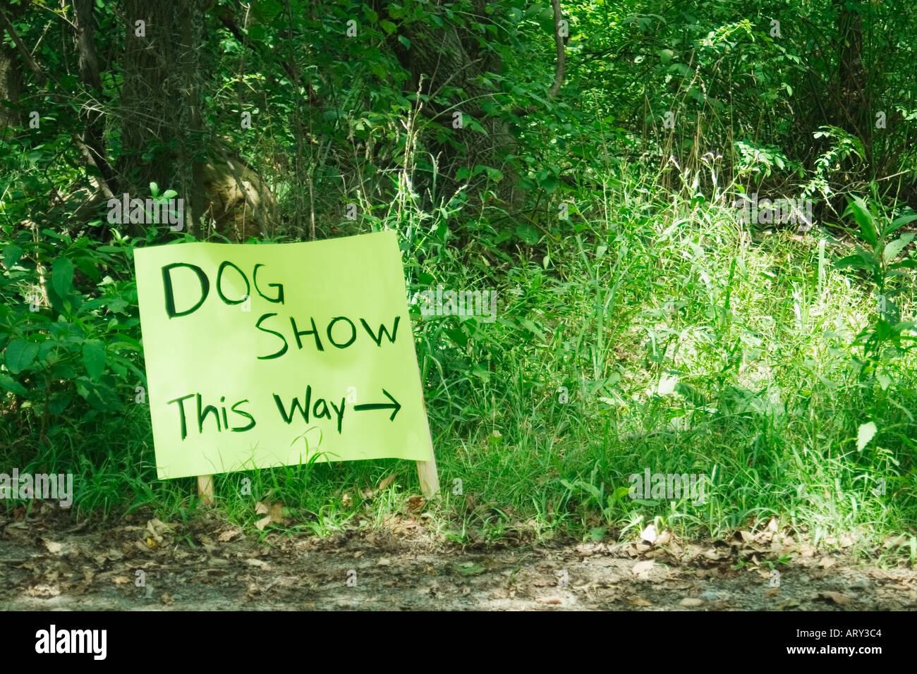 Dog show sign - Stock Image