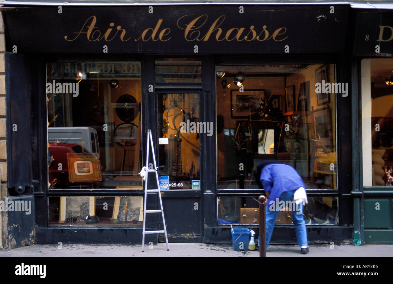 Paris Carre Rive Gauche the art district full of galleries and art shops and musea - Stock Image