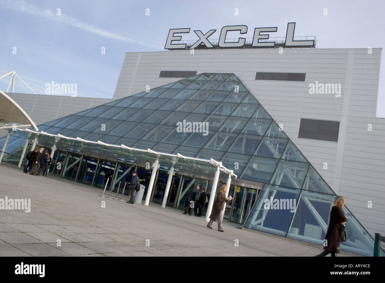 Excel exhibition centre Docklands London - Stock Image