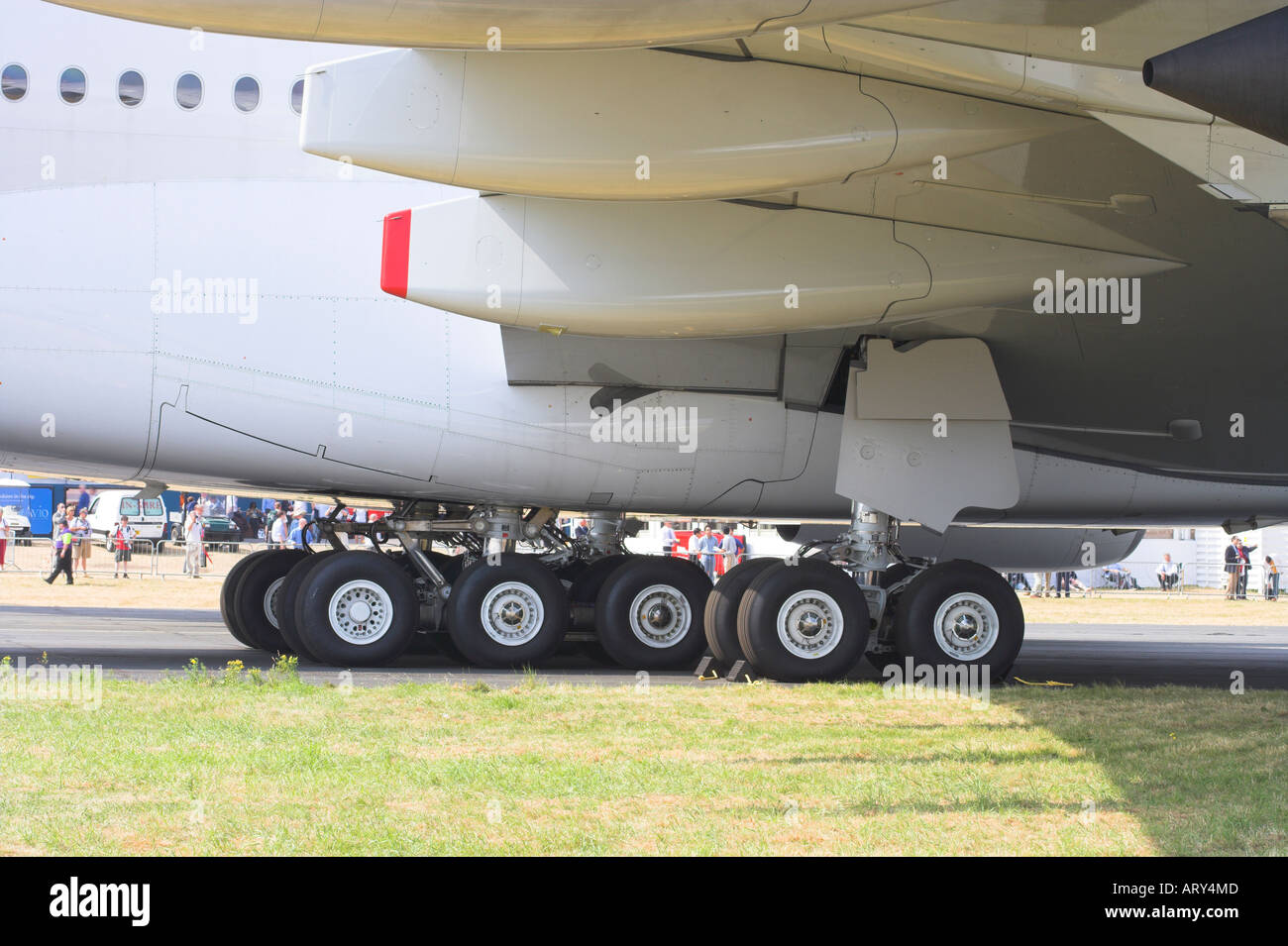 Undercarriage of the Airbus A380 - Stock Image