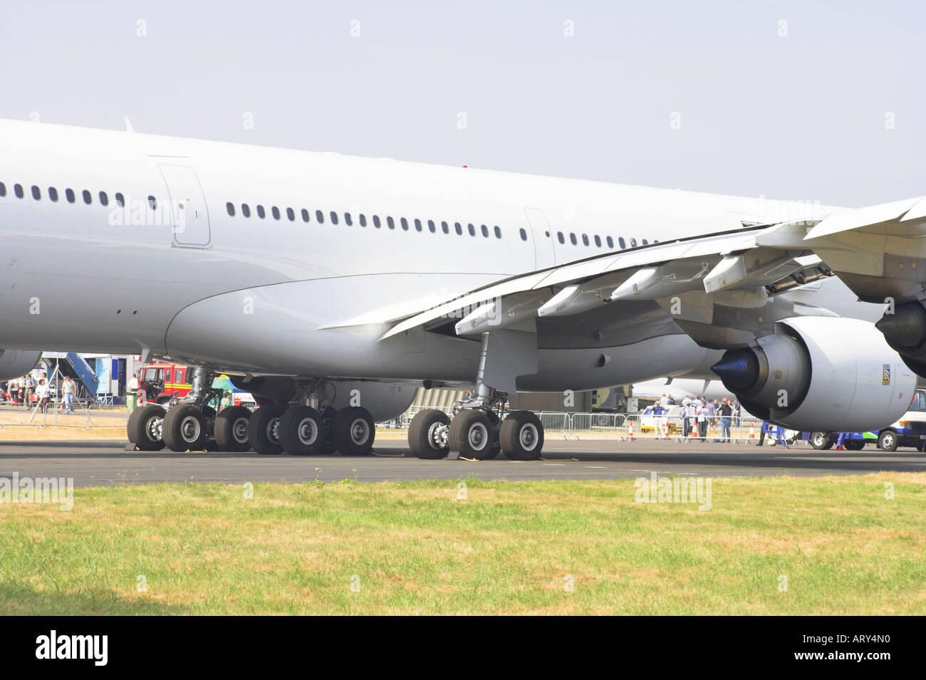 Airbus A340 600 mid fuselage and undercarriage - Stock Image