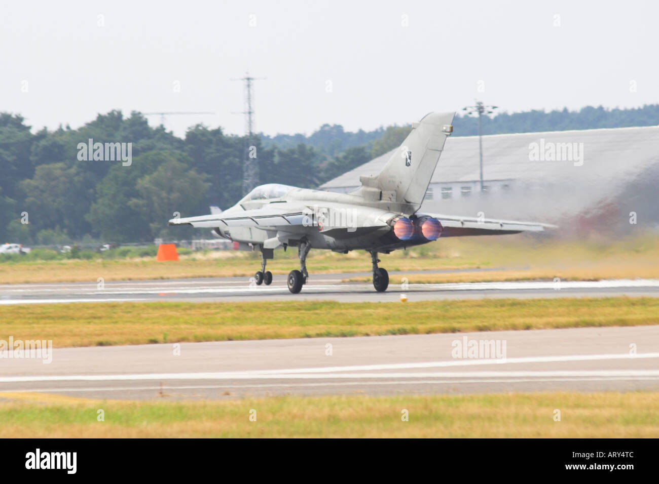 Tornado G4 just getting airborne on full reheat - Stock Image