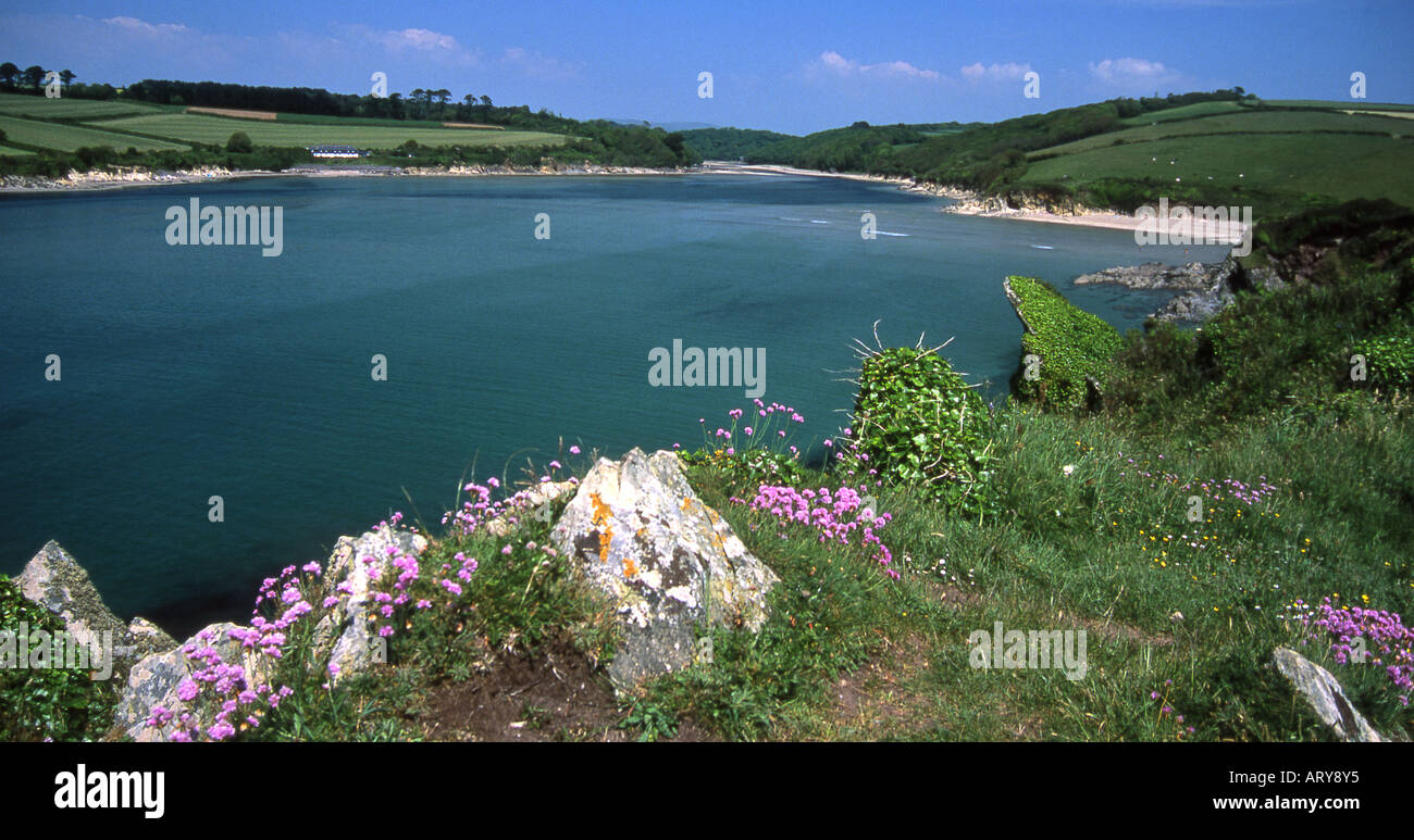 The mouth of the River Erme, South Devon - Stock Image