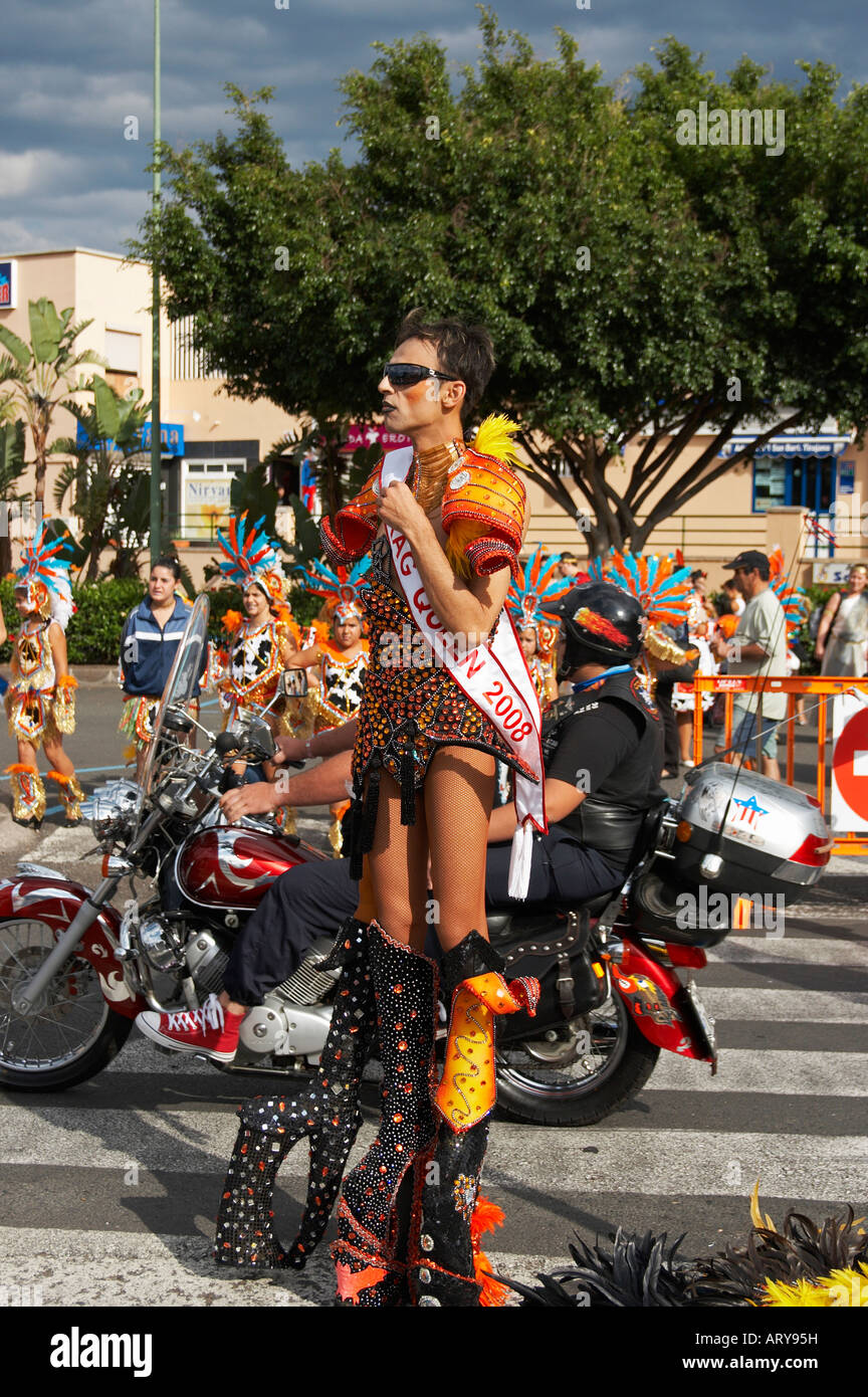 6c7f32d9f58 Drag queen at carnival on Gran Canaria in the Canary islands Stock ...