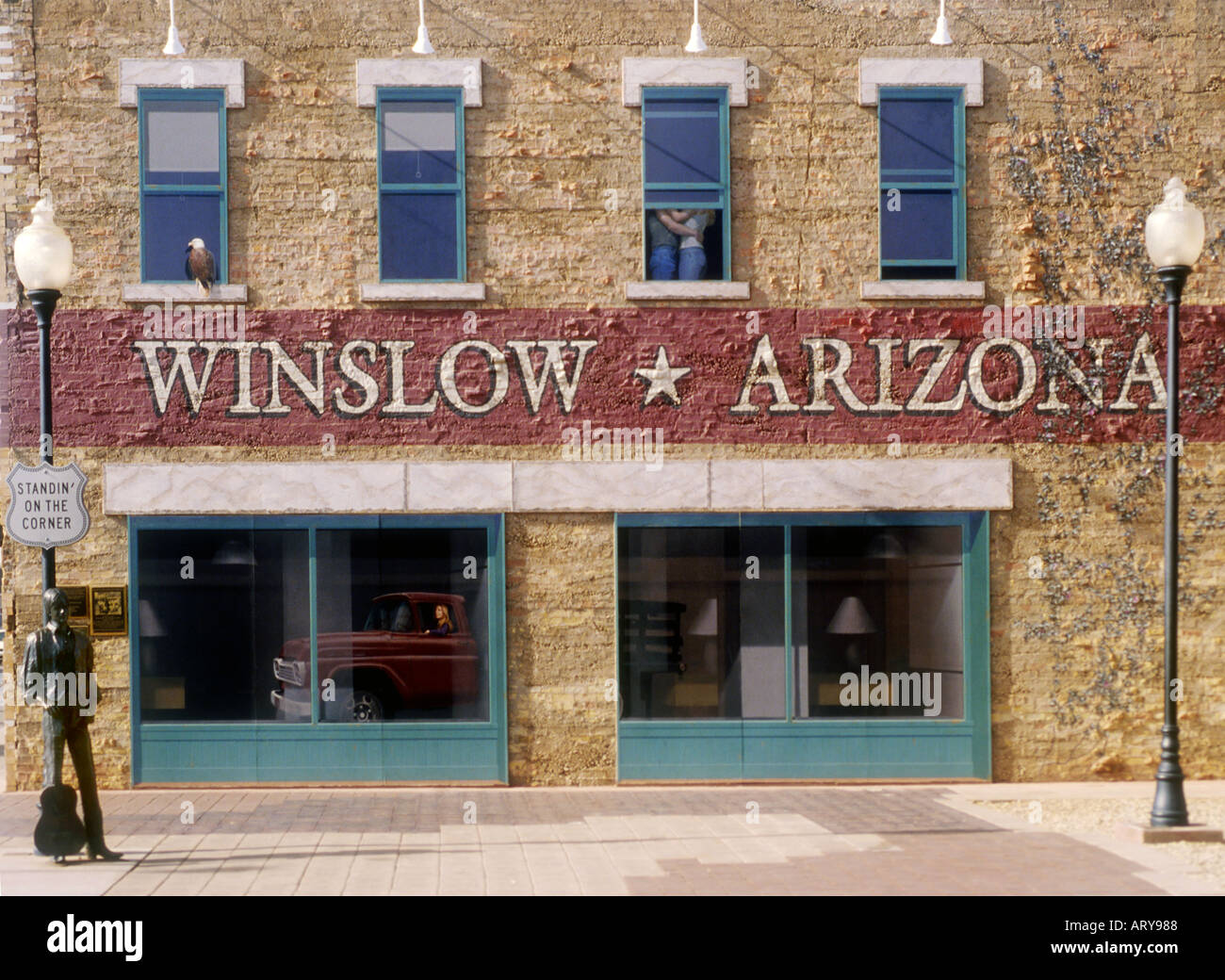 standing on the corner in winslow arizona stock photos standing on the corner in winslow. Black Bedroom Furniture Sets. Home Design Ideas