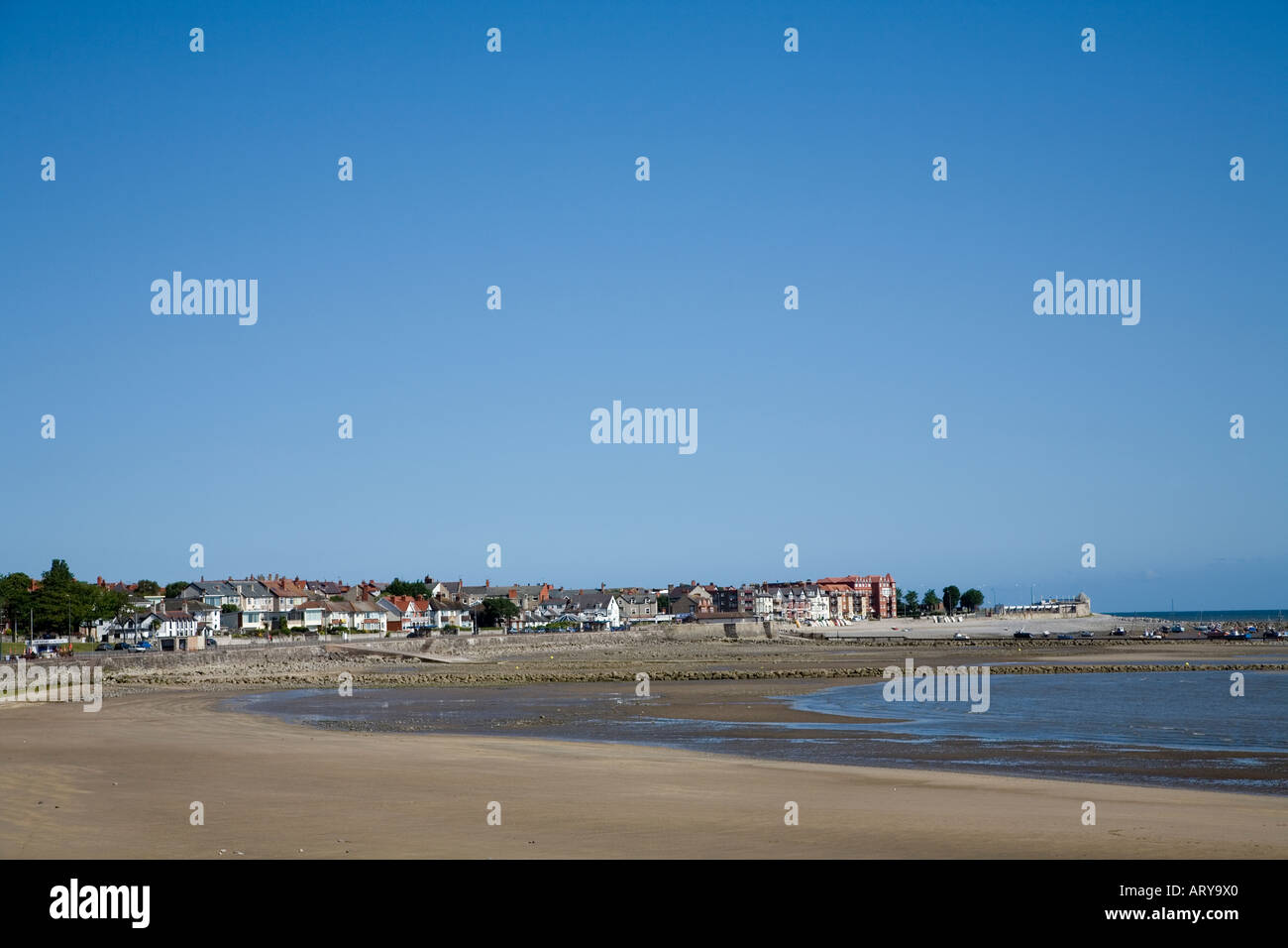 Rhos on Sea from Colwyn Bay North Wales UK - Stock Image