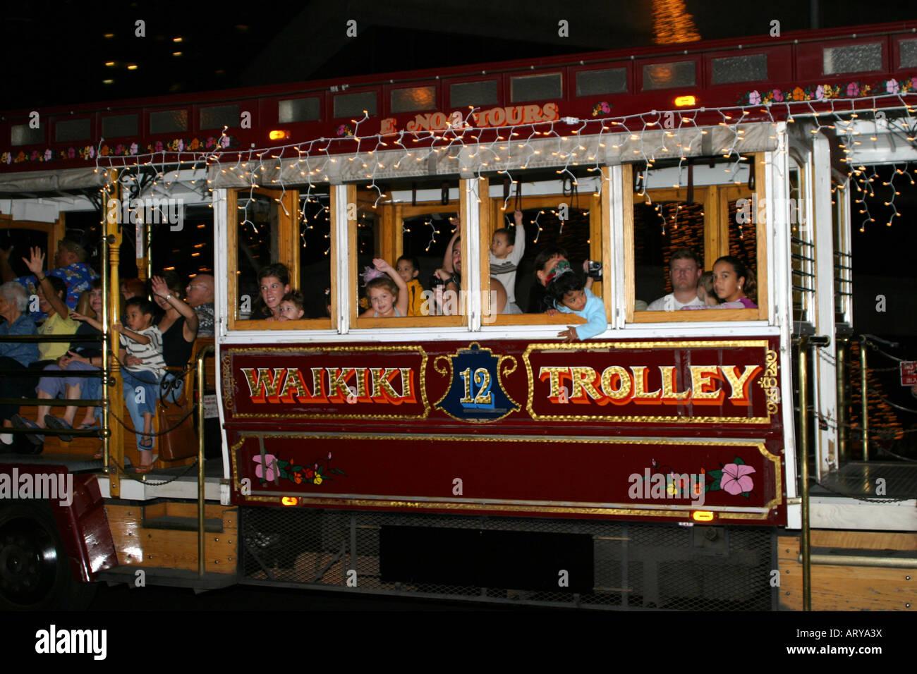 Honolulu Christmas Trolley 2021 Waikiki Trolley High Resolution Stock Photography And Images Alamy