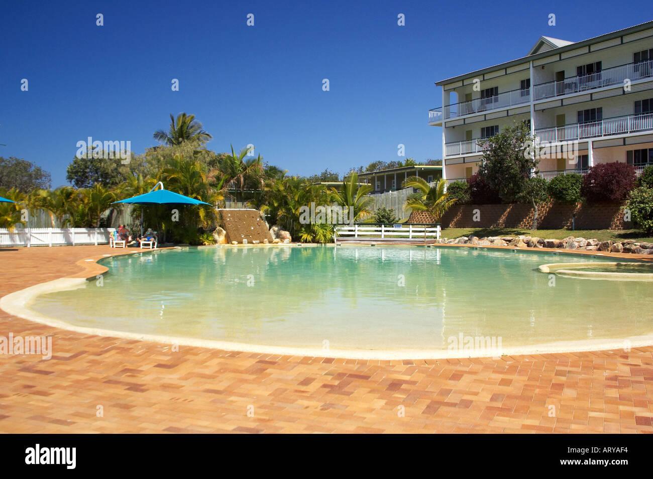 Eurong Beach Resort Fraser Island Queensland Australia Stock