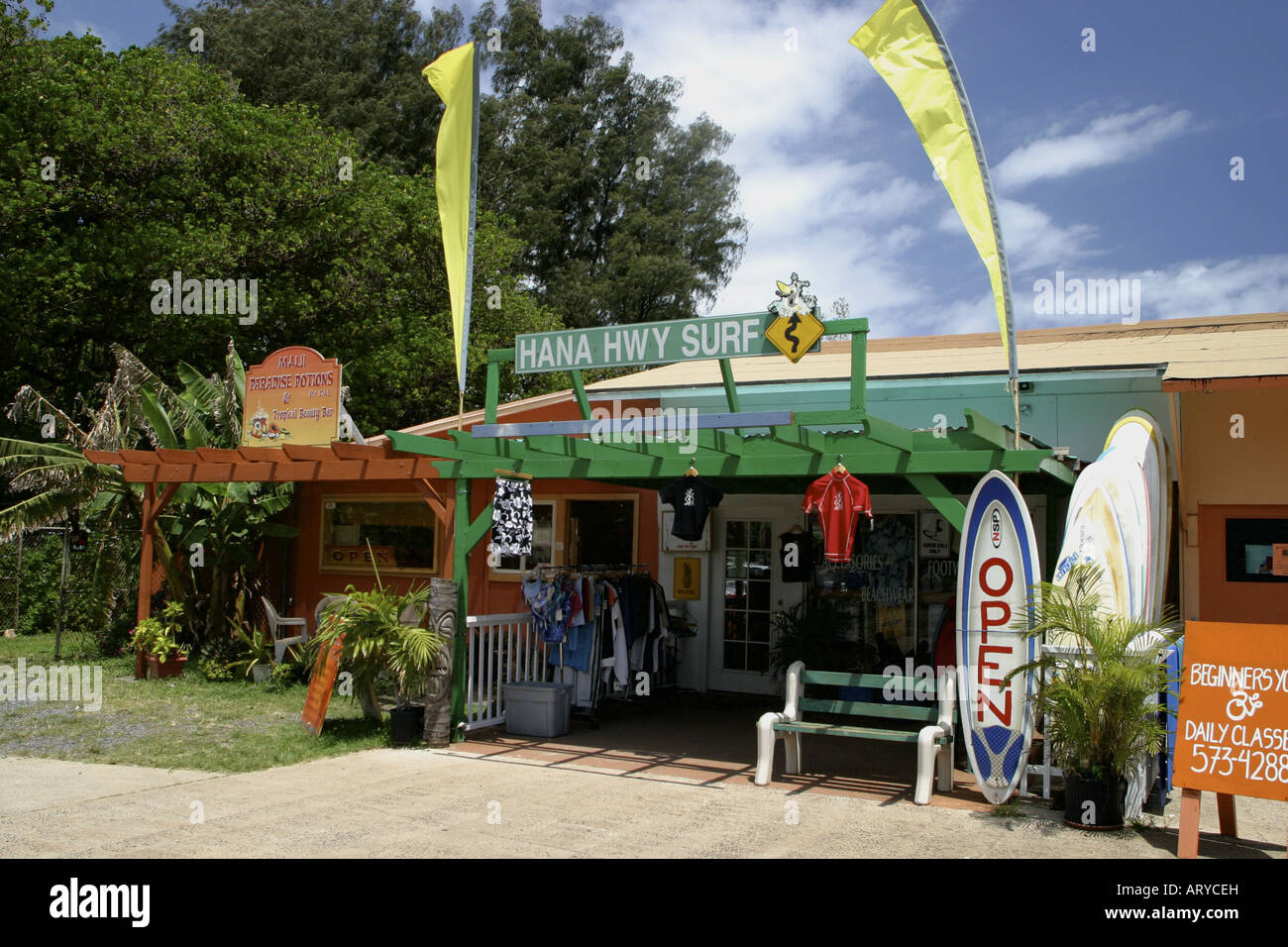 9c8c77939a The Hana highway surf shop located in the small town of Paia, a ...