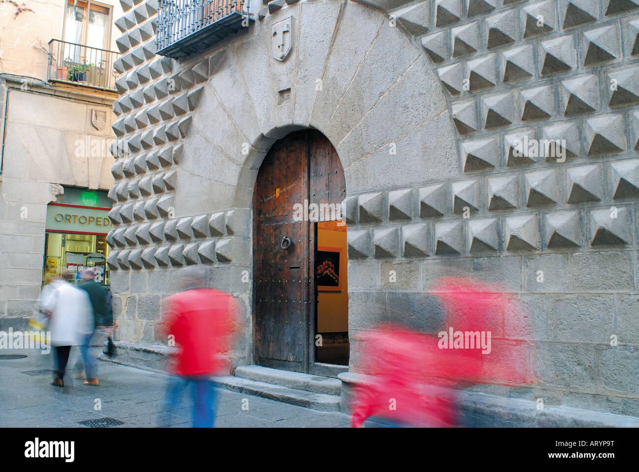 Palacio da Bica, Segovia, Castilla-Leon, Spain - Stock Image