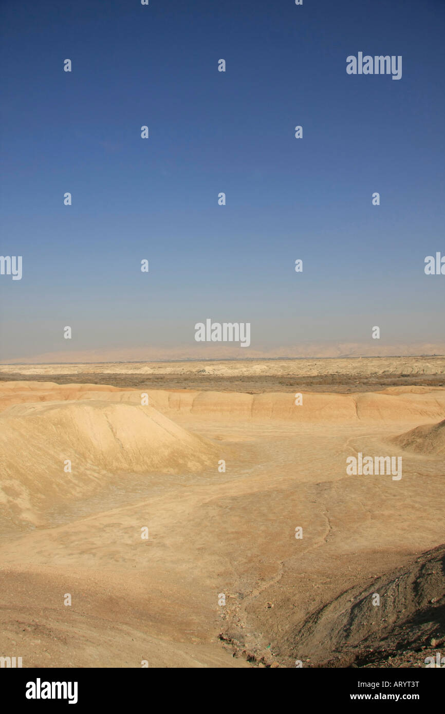Jordan Valley Qasr al Yahud A view of Jericho plains - Stock Image