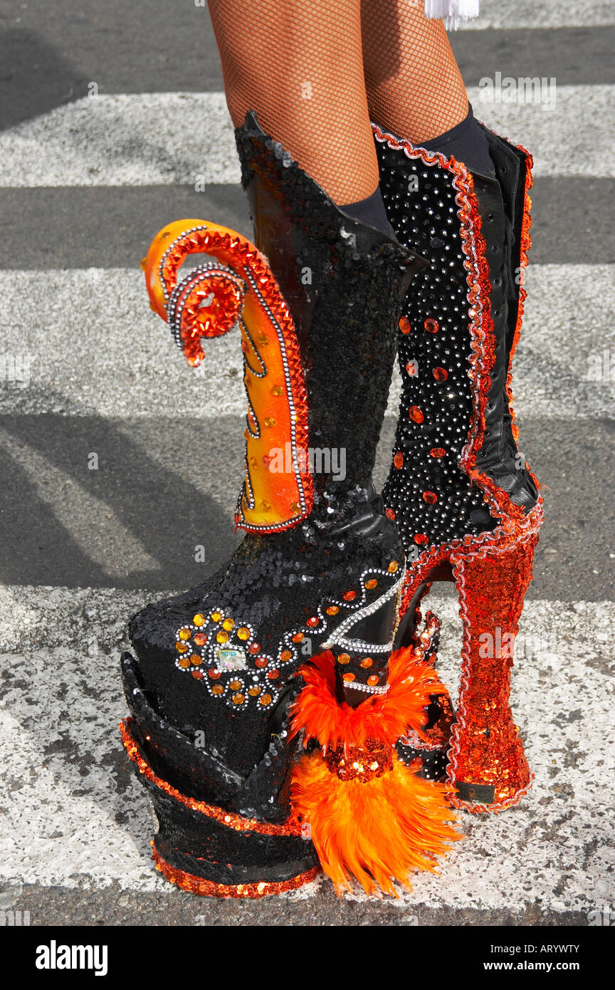0f0b8930d0f Drag queen wearing platform boots at carnival on Gran Canaria in the ...