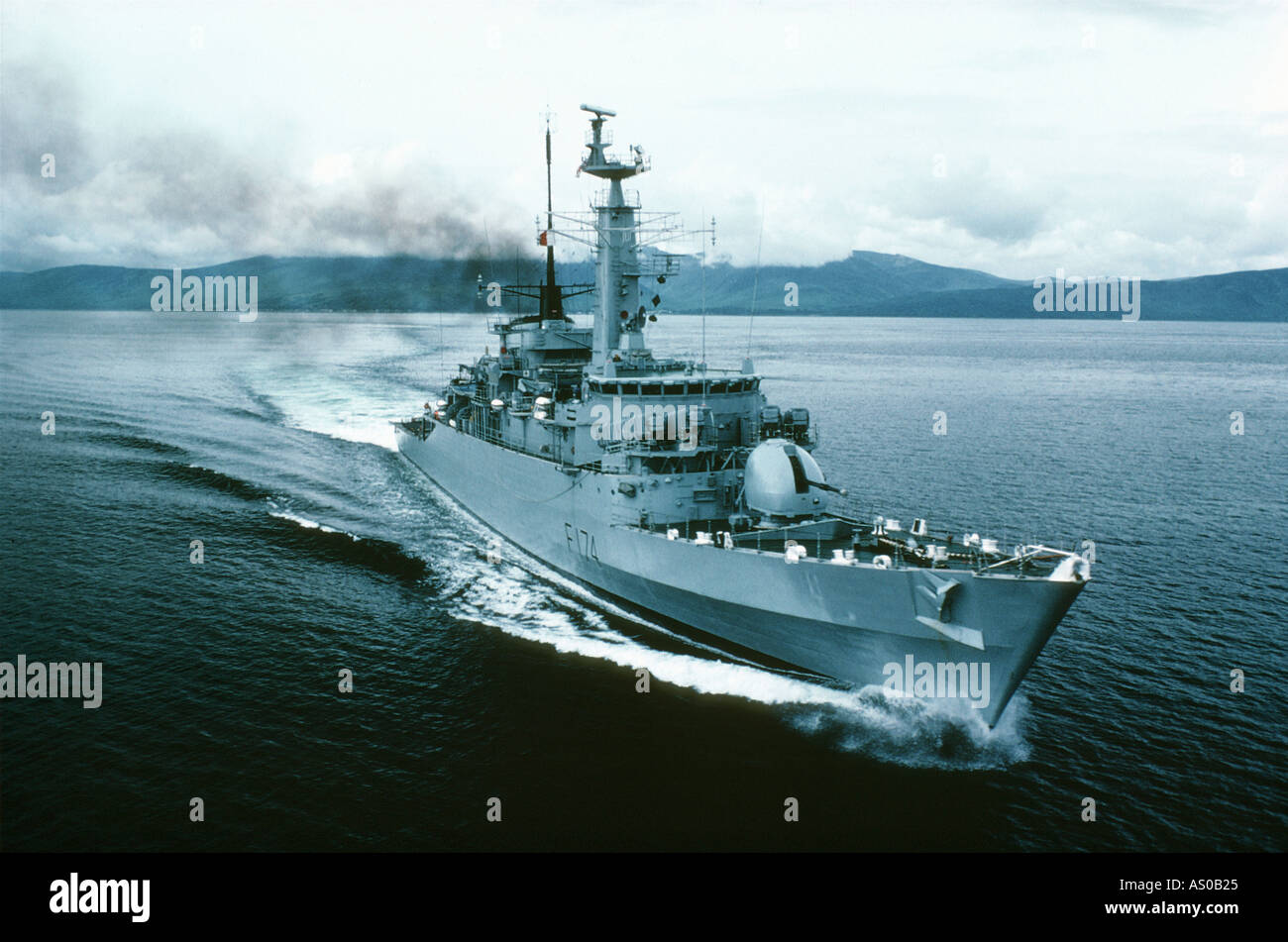 Royal Navy Frigate - Stock Image