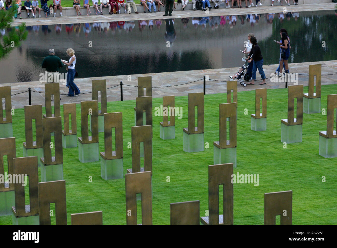 Oklahoma City bombing site memorial USA Stock Photo