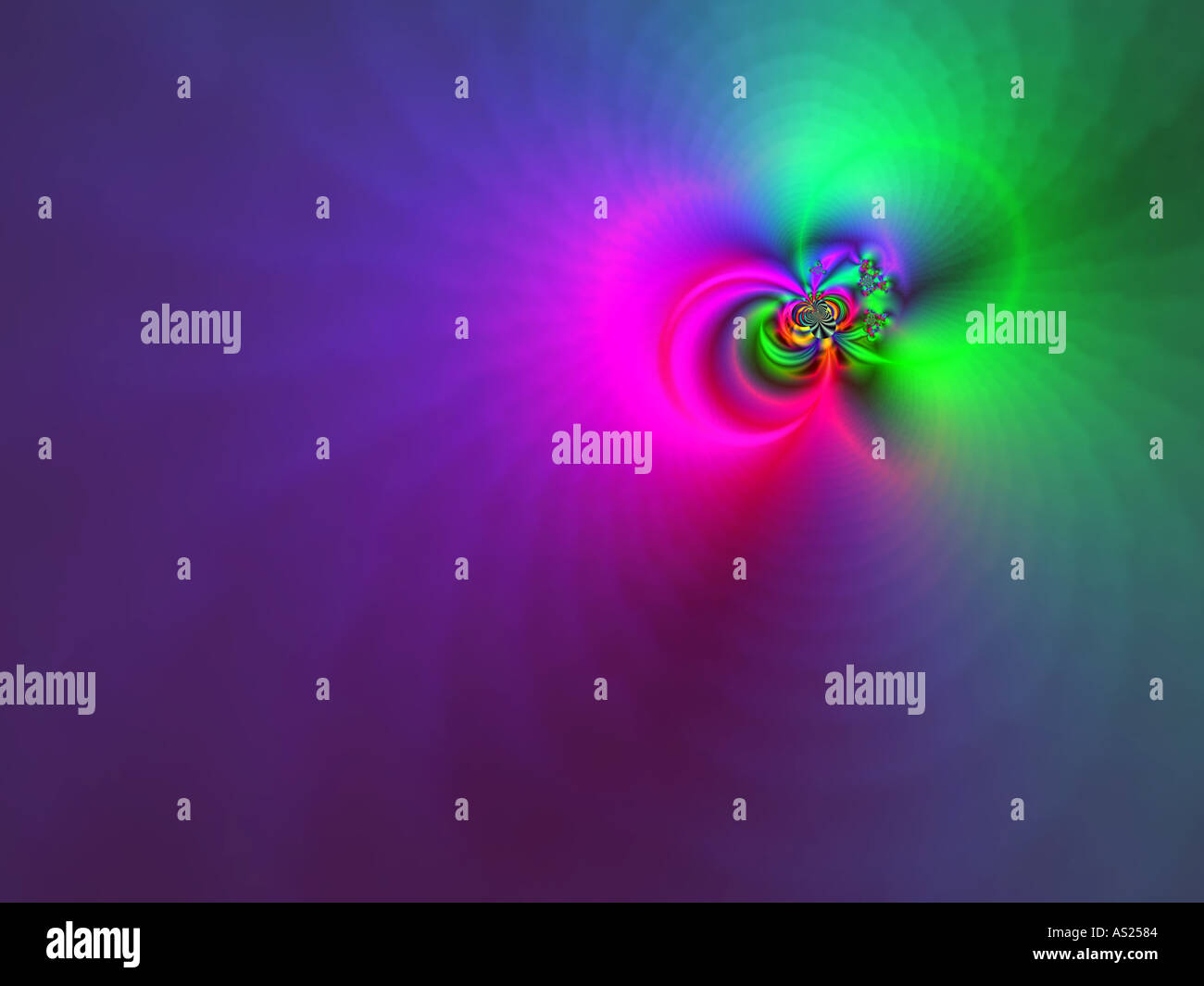 Green halo - Stock Image